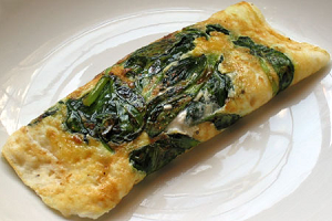 Quick and Easy Cheese and Vegetable Omelet